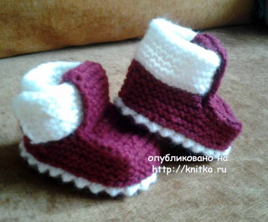 Knit knitting booties. Work Rimmy