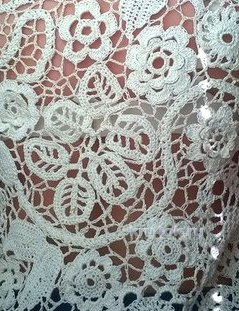 Blouse in the technique of Irish lace. Work Helena