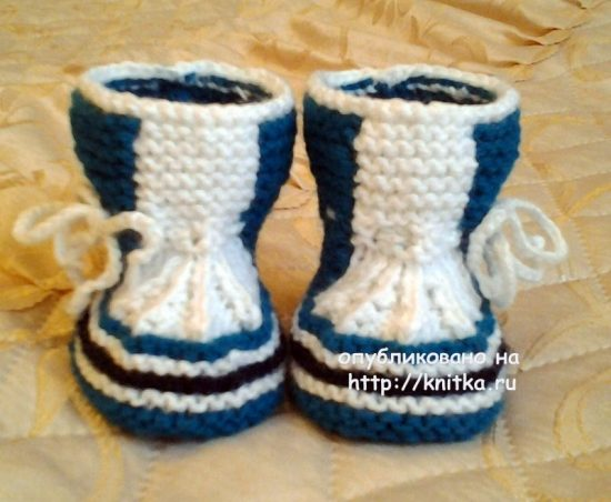 Knitted booties. Work Rimmy
