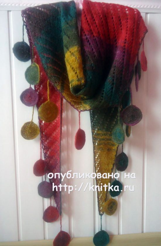 Knitted knitting scarf - scarf. Work Lily