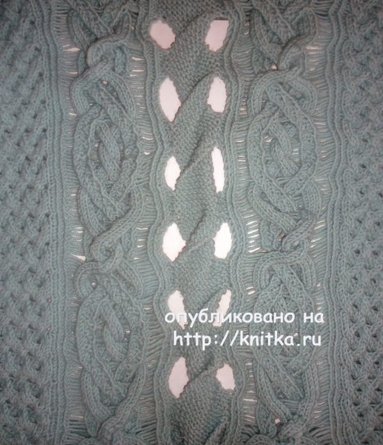 Knitted sweater for women. Work Lily