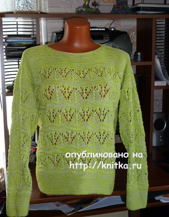 Pullover with an openwork pattern. The Work Of Marina Efimenko