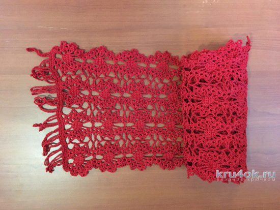 Scarf from the lace ribbon. Work Tatiana