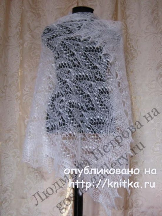 Tippet knitting Queen Silvia. The Work Of Ludmila Petrova